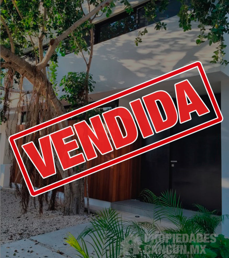 vendida casa residencial palmaris cancun chited